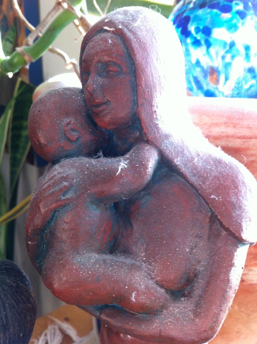 Figurine by mom's best friend, Johanna Vermeer.