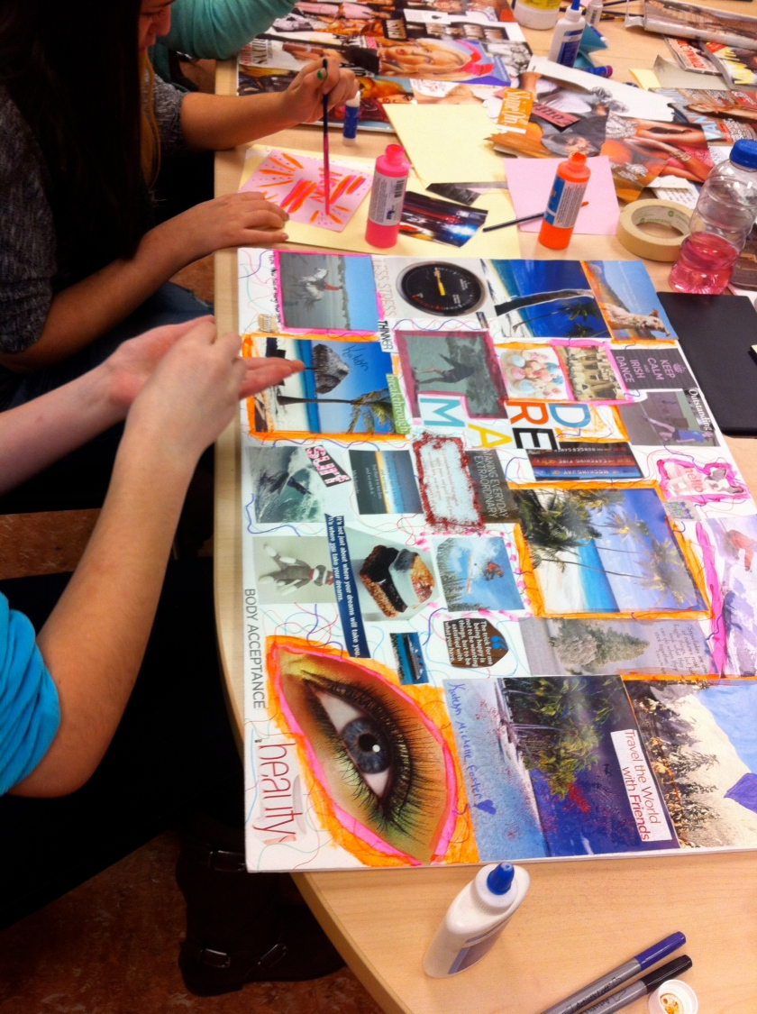 I spent the afternoon with a group of extraordinary young women facilitating their vision board process!