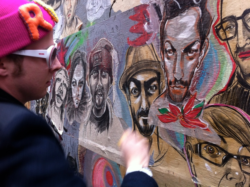 Josh Langston pasting Marc Jacobs