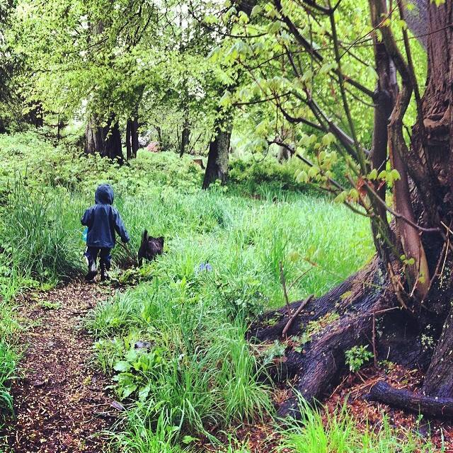 My nephew, Henrik, and my dog, Tobey, Stanley Park, Vancouver BC