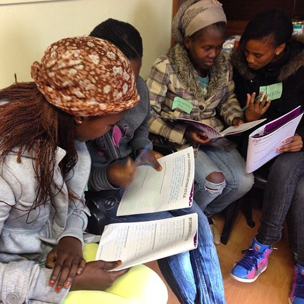 """""""Young women of @globalsorority #southafrica working on their communication skills"""" - Loretta Cella"""