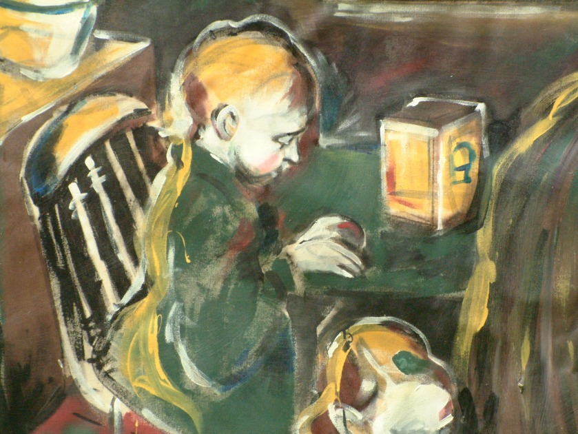 """Detail from """"Laundry Day,"""" 2002"""