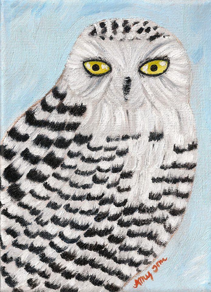 """Ice Owl,""  November 2014, by Amy Tom"